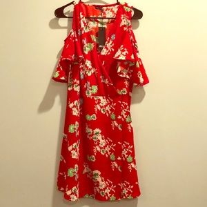 Red floral nasty gal dress